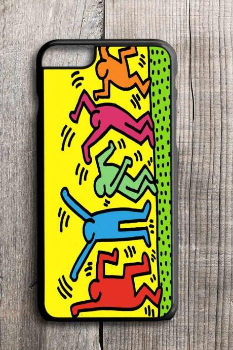 iPhone 4 4S 5 5S 5C 6 6 Plus case, iPhone 4 4S 5 5S 5C 6 6 Pus cover,tpu,rubber,custom case Haring