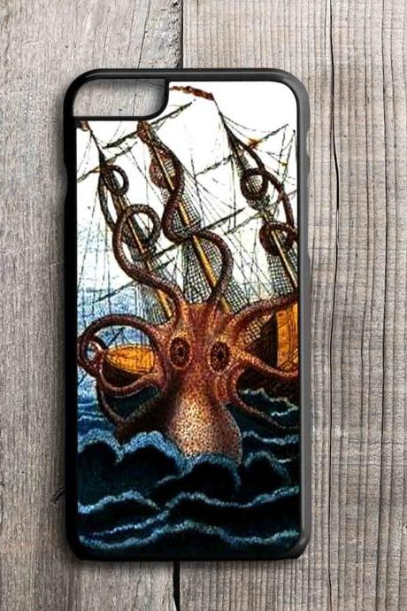 iPhone 4 4S 5 5S 5C 6 6 Plus case, iPhone 4 4S 5 5S 5C 6 6 Pus cover,tpu,rubber,custom case Kraken on the sea