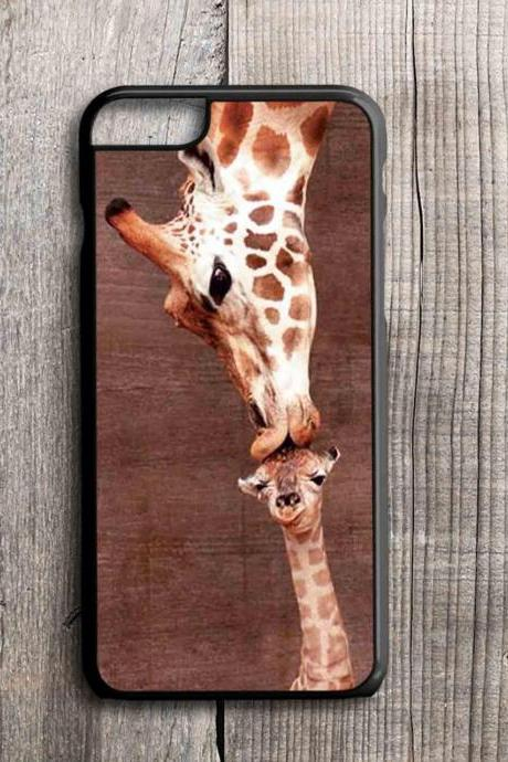 iPhone 4 4S 5 5S 5C 6 6 Plus case, iPhone 4 4S 5 5S 5C 6 6 Pus cover,tpu,rubber,custom case Giraffe Kissing Baby